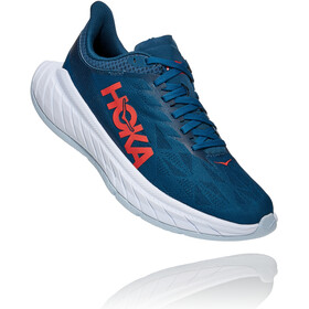 Hoka One One Carbon X 2 Shoes Women moroccan blue/hot coral
